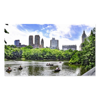 Boating in Central Park Business Card Template