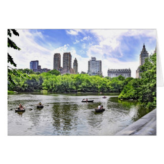 Boating in Central Park Card