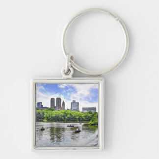 Boating in Central Park Key Chains