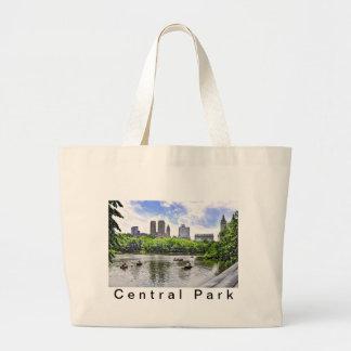 Boating in Central Park Tote Bag