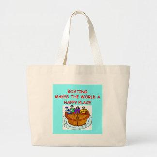 boating large tote bag