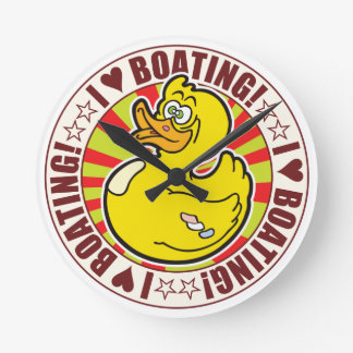 Boating  Love Duck Round Clocks