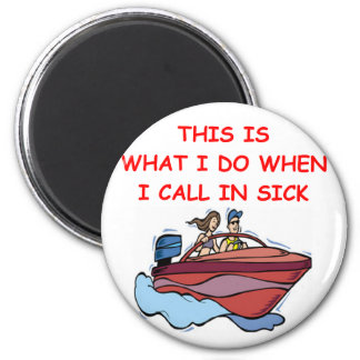 boating 2 inch round magnet