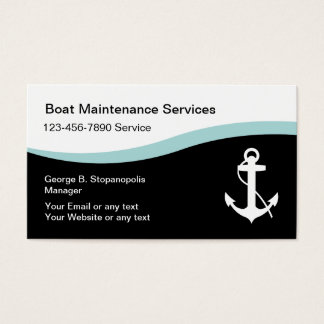Boating Maintenance Business Cards