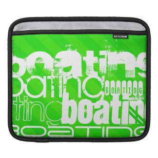 Boating; Neon Green Stripes iPad Sleeve
