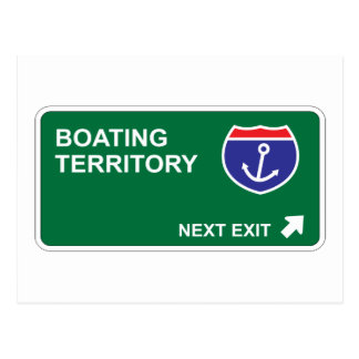 Boating Next Exit Postcard