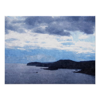 Boating on Lake Superior- Oil Painting Print