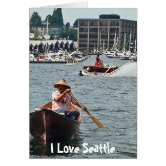 Boating on Lake Union Greeting Card