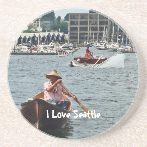 Boating on Lake Union Coasters