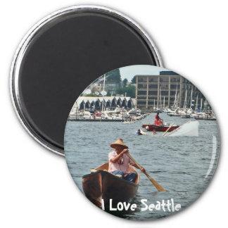 Boating on Lake Union Magnet