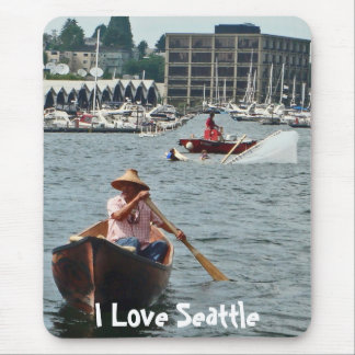 Boating on Lake Union Mouse Pad