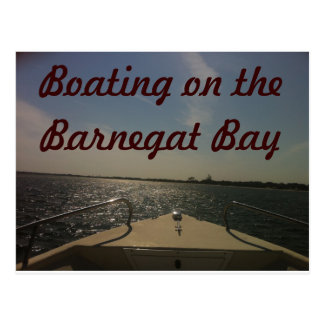 Boating on the Barnegat Bay Postcard