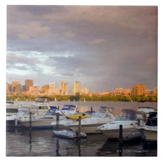Boating on The Charles River at dusk Tile
