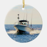 Boating on the Lake Double-Sided Ceramic Round Christmas Ornament