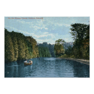 Boating on the Rideau Canal, Ottawa Vintage Print