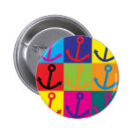 Boating Pop Art Pinback Buttons