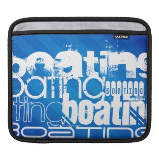 Boating; Royal Blue Stripes iPad Sleeve