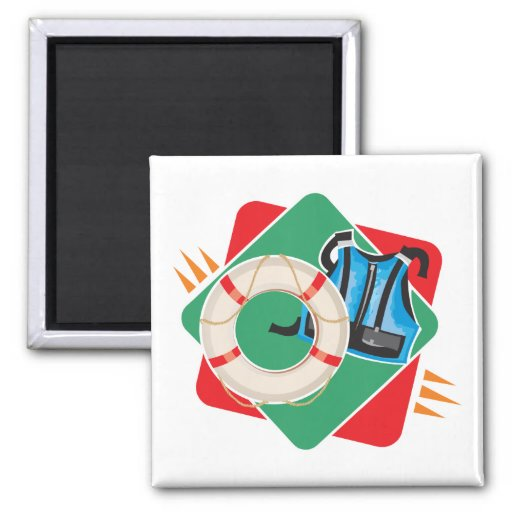 boating safety 2 inch square magnet