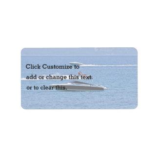 Boating Scene At Ocean Address Label