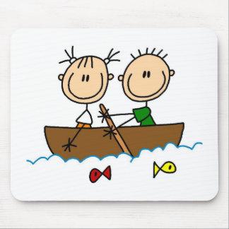 Boating Stick Figure Mousepad Mousepad