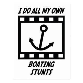 Boating Stunts Postcard