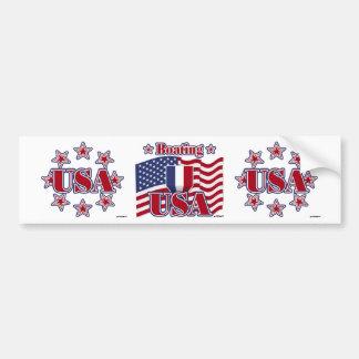 Boating USA Bumper Sticker
