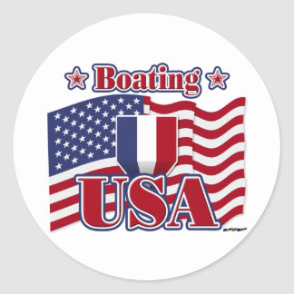 Boating USA Classic Round Sticker