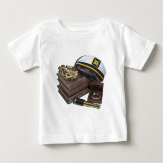 BoatingBooksCaptainSextantCompassTelescope042113.p Baby T-Shirt