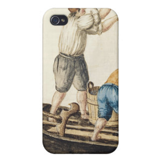 Boatmen Pouring Fresh Water into the Pipelines iPhone 4 Cases