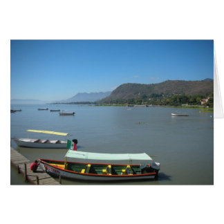 Boats along Lake Chapala Mexico Card