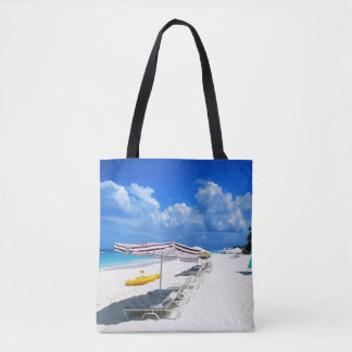 Boats And Beach Chairs Tote Bag
