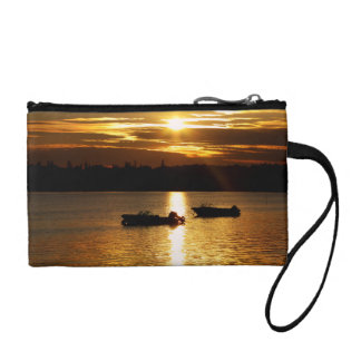 Boats and Fiery Sky Coin Purse