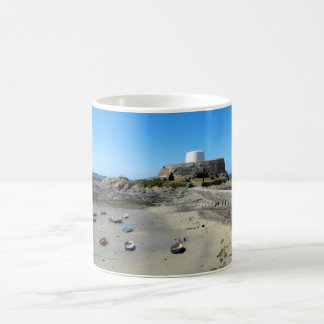 Boats and Fort Grey in Guernsey Coffee Mug