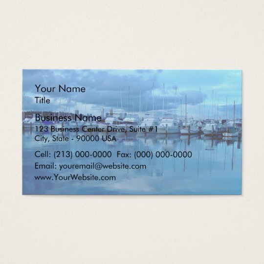 Boats and its reflection business card