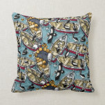 Boats and Pelicans Throw Pillow