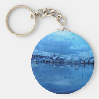 Boats And Reflections At Royal Perth Yacht Club Keychains