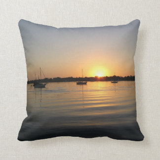 Boats and Sunrise 001 Pillows