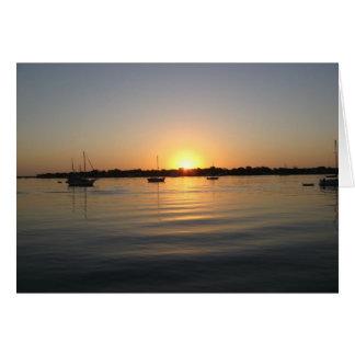 Boats and Sunrise Card