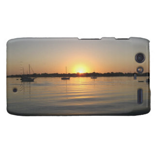 Boats and Sunrise Droid RAZR Covers