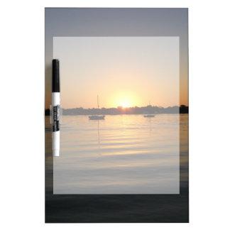 Boats and Sunrise Dry Erase Whiteboards