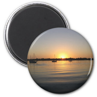 Boats and Sunrise Magnet