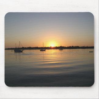 Boats and Sunrise Mousepad