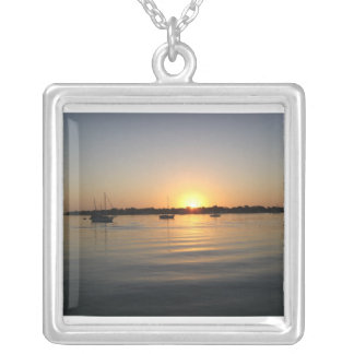 Boats and Sunrise Necklace