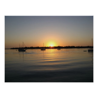 Boats and Sunrise Posters