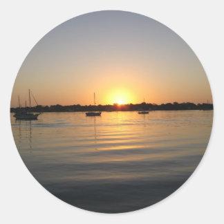 Boats and Sunrise Sticker