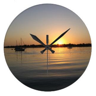 Boats and Sunrise Wall Clocks