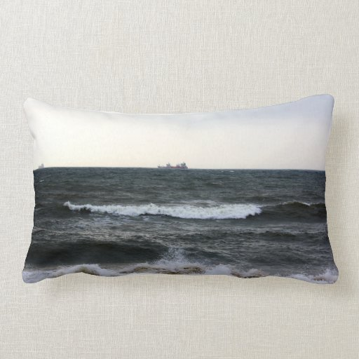 Boats and Surge in the Atlantic Ocean from the coa Pillows