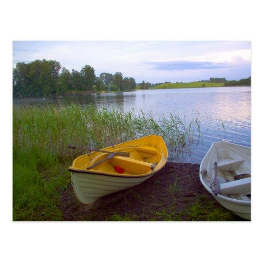 Boats and the Lake Postcard