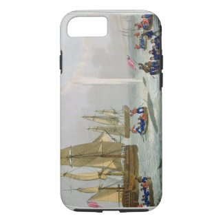 Boats Approaching a Whale, engraved by Matthew Dub iPhone 7 Case