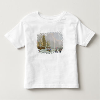Boats Approaching a Whale, engraved by Matthew Dub Toddler T-shirt